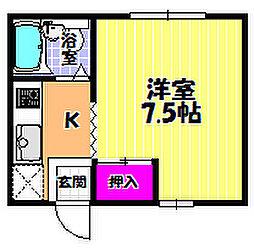 暁21 0号館[1階]の間取り