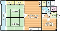 第10岡部ビル[403号室]の間取り