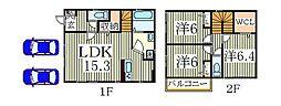 [一戸建] 千葉県我孫子市都部 の賃貸【千葉県 / 我孫子市】の間取り