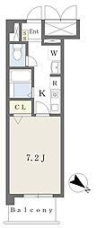 エル・セレーノ守口駅前 3階1Kの間取り