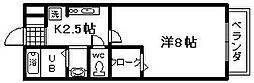 セジュール井原ノ里 B棟[1階]の間取り
