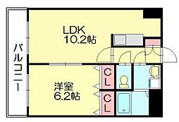ライフステーション柚須[6階]の間取り