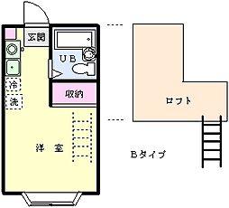 グレース南大沢B[1階]の間取り