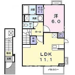 カーサK.F.[2階]の間取り
