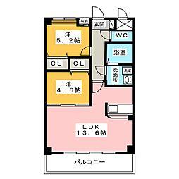 Prendre M[2階]の間取り