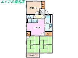 レジデンスFUJIGAOKA E棟[2階]の間取り
