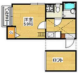 ベネフィスタウン六本松5[105号室]の間取り