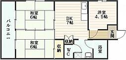 第3サンパレス[5階]の間取り