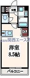 VEGA玉造[6階]の間取り