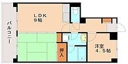 ベレーザマンション南福岡[1階]の間取り