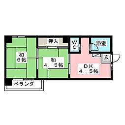 マ・メゾン御器所[2階]の間取り