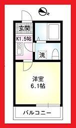 神奈川県大和市林間2の賃貸アパートの間取り