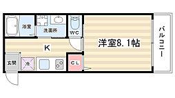 MESA VERDE 桂[3階]の間取り