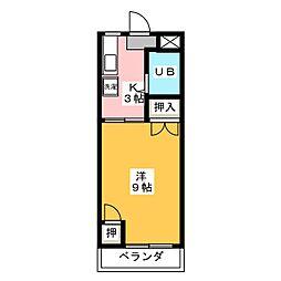 メロディハイツPartII[3階]の間取り