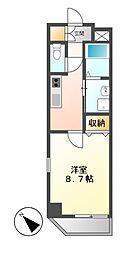 愛知県名古屋市北区大曽根4の賃貸マンションの間取り
