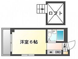 White草津[4階]の間取り