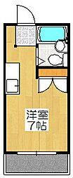 ル・松尾[303号室]の間取り