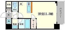 リッツ難波南Ⅱ[7階]の間取り
