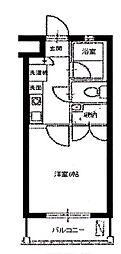スカイパレス西新宿[107号室号室]の間取り