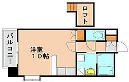 ウエストサイド箱崎[7階]の間取り