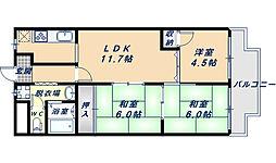 第2大原マンション[5階]の間取り