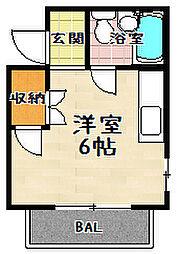 瀬田エステートシティ[401号室]の間取り