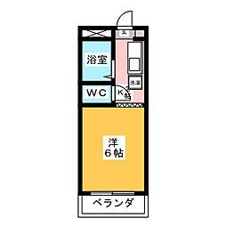 コーポ大桜II 1階1Kの間取り