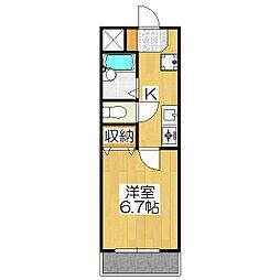 スクエア西賀茂[2階]の間取り