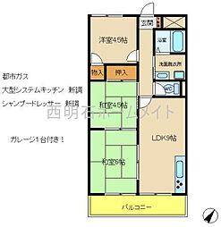 シャトー田中[2階]の間取り