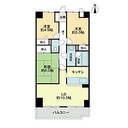 スカール喜多川A棟[4階]の間取り