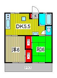 錦ハイツB[112号室]の間取り