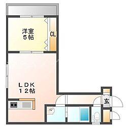 北海道札幌市東区北三十四条東18の賃貸マンションの間取り