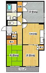 長谷川マンションI[2階]の間取り
