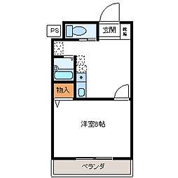 クオーレ平成弐番館[3階]の間取り
