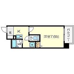 プレサンス新大阪[2階]の間取り