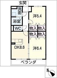 ピュアタウンI[3階]の間取り