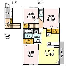 D-room寺塚[2階]の間取り