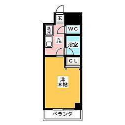 KONSORTE松原[6階]の間取り