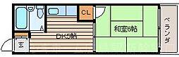 広島県広島市東区戸坂くるめ木2丁目の賃貸マンションの間取り
