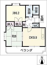 サクセスII[1階]の間取り