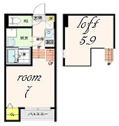 Villa Emilia[2階]の間取り