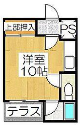 コットンハウス11[101号室]の間取り