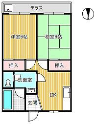 小坂コーポ[103号室]の間取り