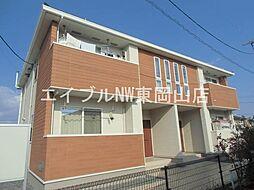 岡山県岡山市中区八幡の賃貸アパートの外観