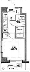 東京都板橋区稲荷台の賃貸マンションの間取り
