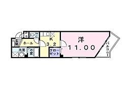 埼玉県上尾市愛宕の賃貸マンションの間取り