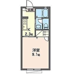 ミナミハイツフラワー[2階]の間取り