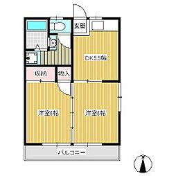 マンション原[1階]の間取り