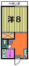 パールハイツ[1-C号室]の間取り