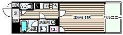 Luce Minamimorimachi 7階1Kの間取り